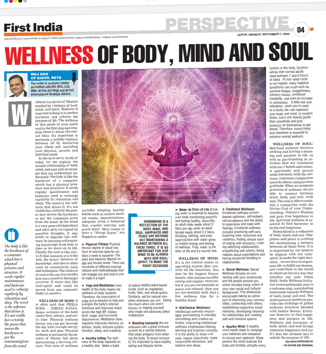 Wellness of Body, Mind and Soul